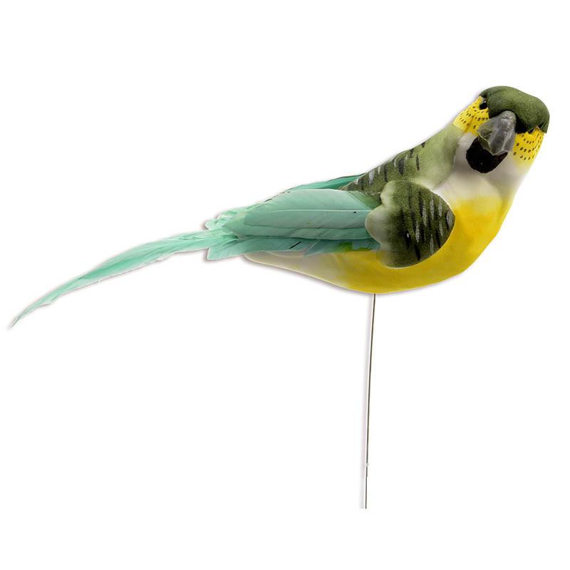 Fågel på pinne 17 cm Turkos, konstgjort djur