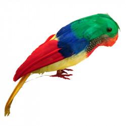 Papegoja, 30 cm, konstgjord fågel