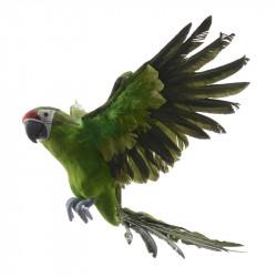 Flygande papegoja, grön, B 52 cm, konstgjort djur
