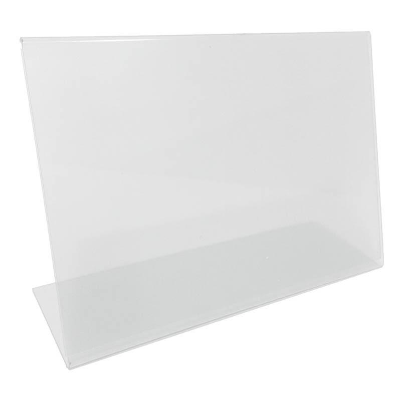 L-formad informationshållare, 10 x 5 cm vågrät