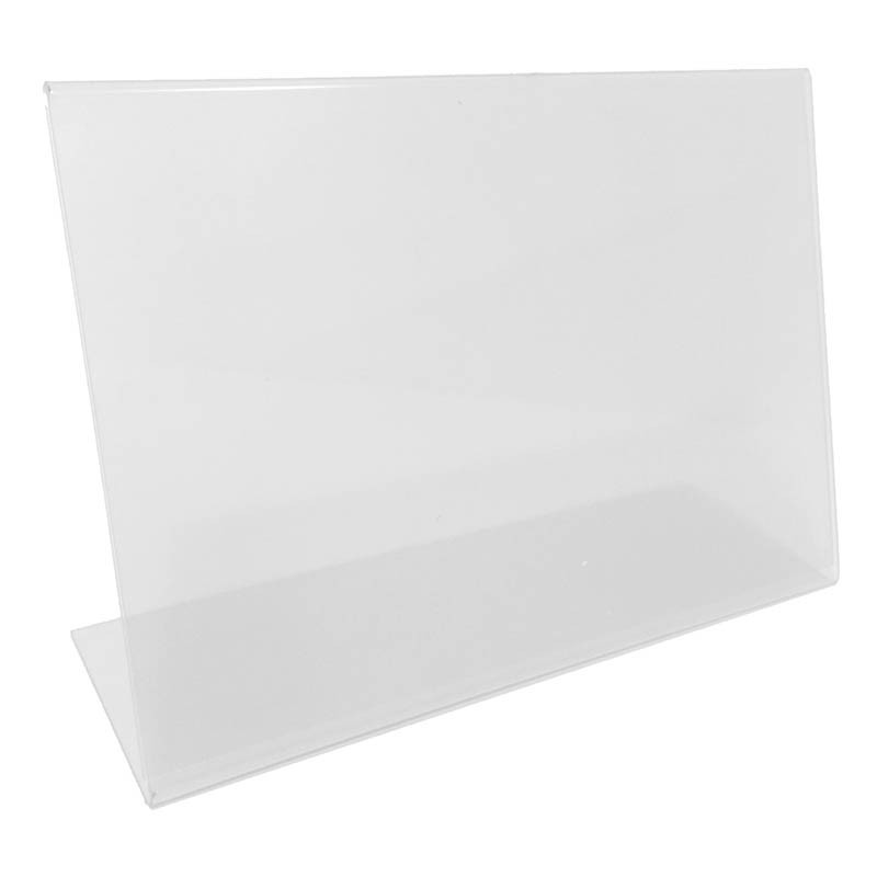 L-formad informationshållare, 8 x 7 cm vågrät