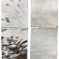 Getskinnsband, i brun / vit