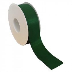 40 mm Satinband med kantsöm, Mörkgrön