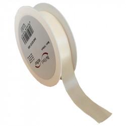 25 mm Satinband med kantsöm, Crèmefärgat