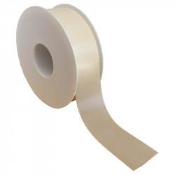 40 mm Satinband med kantsöm, Crèmefärgat