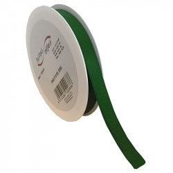 15 mm Satinband med kantsöm, Mörkgrön