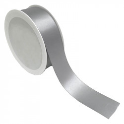 40 mm Satinband, silver