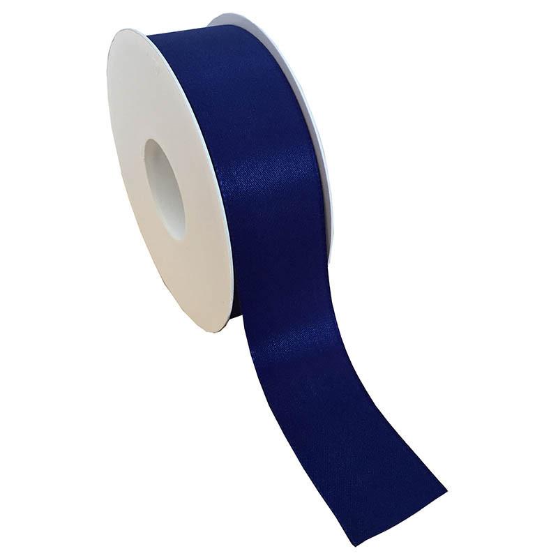 40 mm Satinband med kantsöm, Mörkblå
