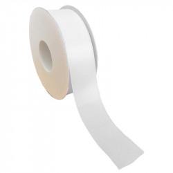 40 mm Satinband med kantsöm, Vit