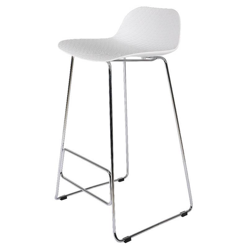 Barstol med plastsits och krom-ram