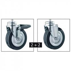 Vikbart Klädstativ/Klädhängare med 2 utdragbara stänger