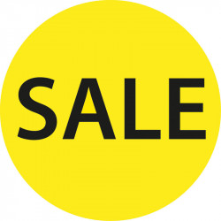 "Cirkelaffisch ""Sale"""
