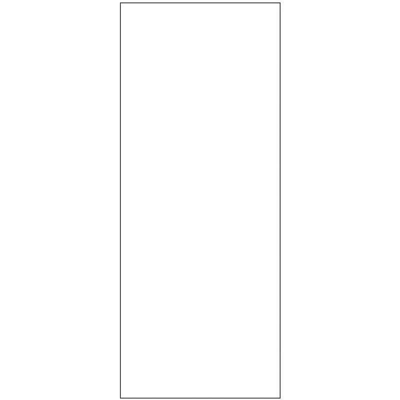 Skylt, avlång, dubbelsidig 2,1 x 5 cm