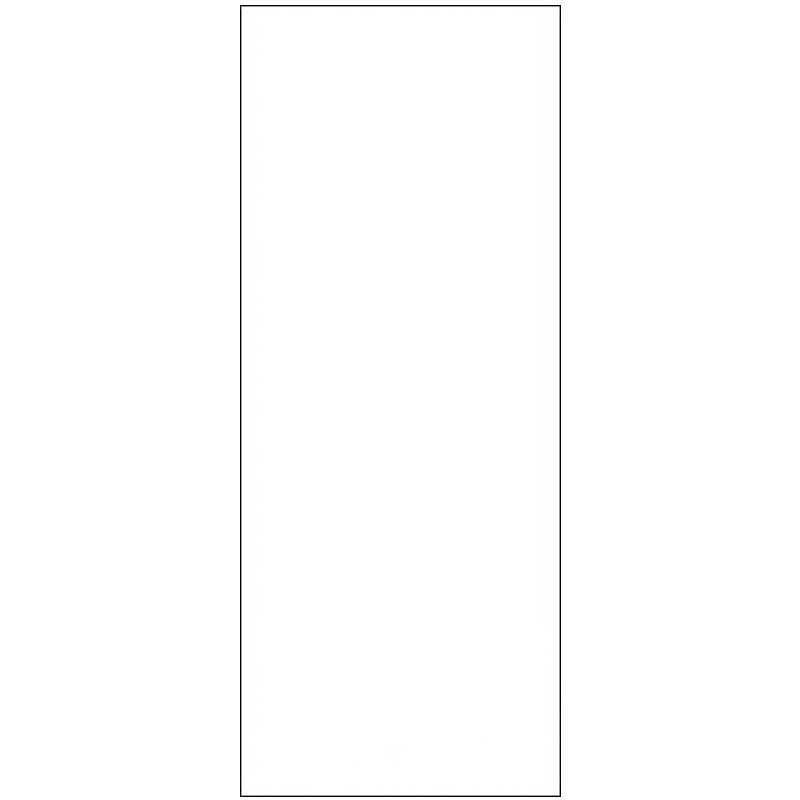 Skylt, avlång, dubbelsidig 3 x 7,5 cm