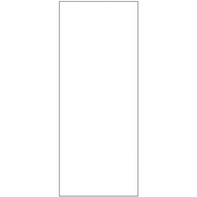 Skylt, avlång, dubbelsidig 4 x 10 cm