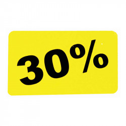 Etiketter, 30%