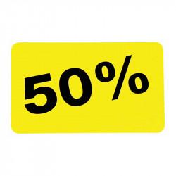 Etiketter, 50%
