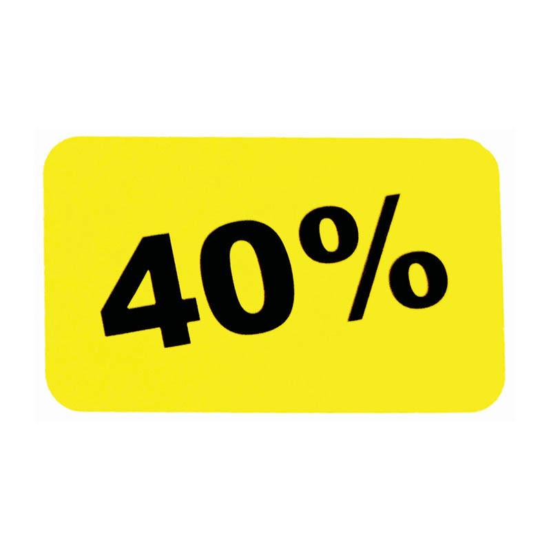 Etiketter, 40%