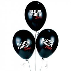 Ballonger med tryck: BLACK FRIDAY Sale, 100 st.påse