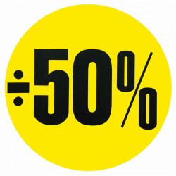 Cirkelaffisch, Gul ÷ 50%