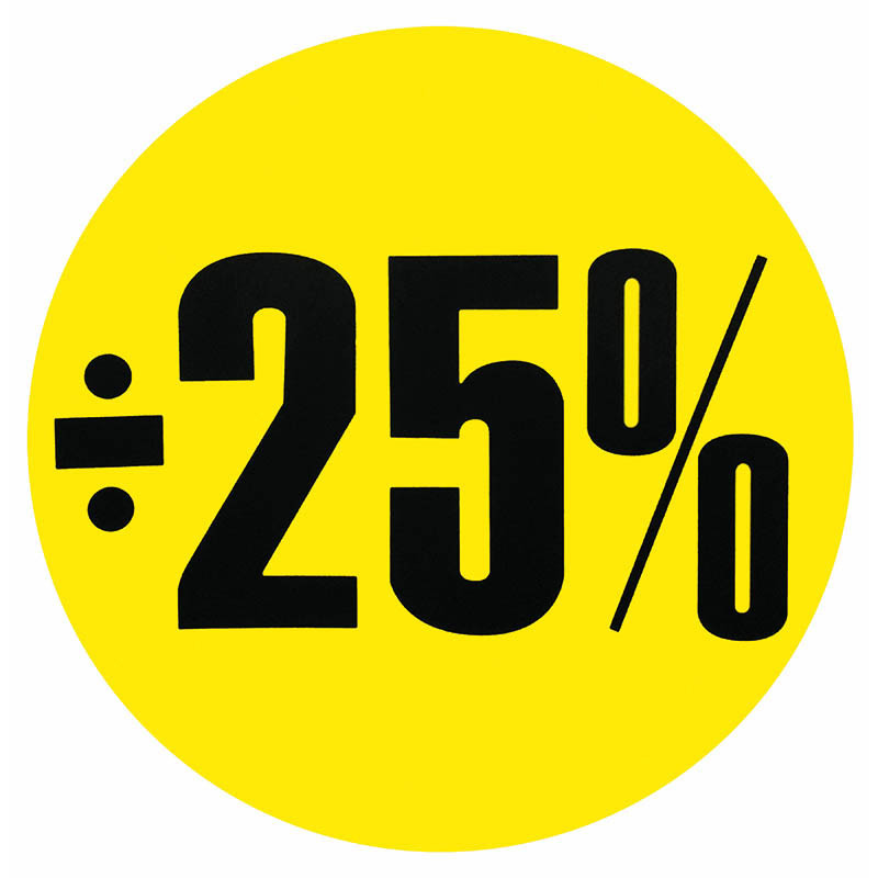 Cirkelaffisch, Gul ÷ 25%
