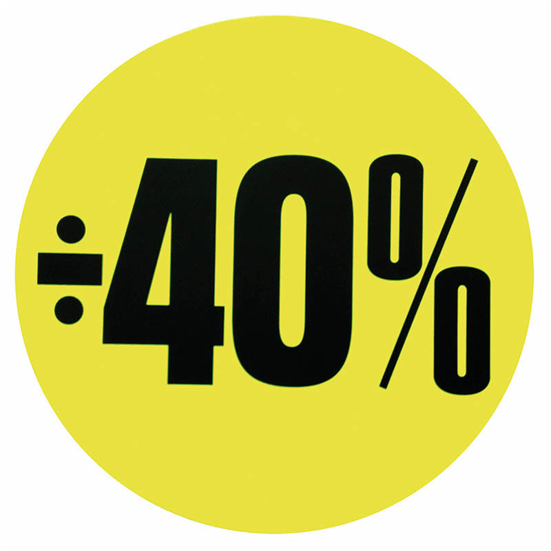 Cirkelaffisch, Neongul ÷ 40%