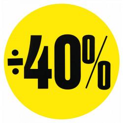 Cirkelaffisch, Gul ÷ 40%