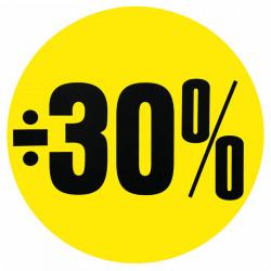 Cirkelaffisch, Gul ÷ 30%