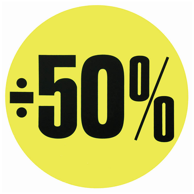 Cirkelaffisch, Neongul ÷ 50%