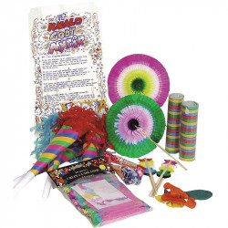 Nyårsparty påse-kit, bordspynt i multifärg