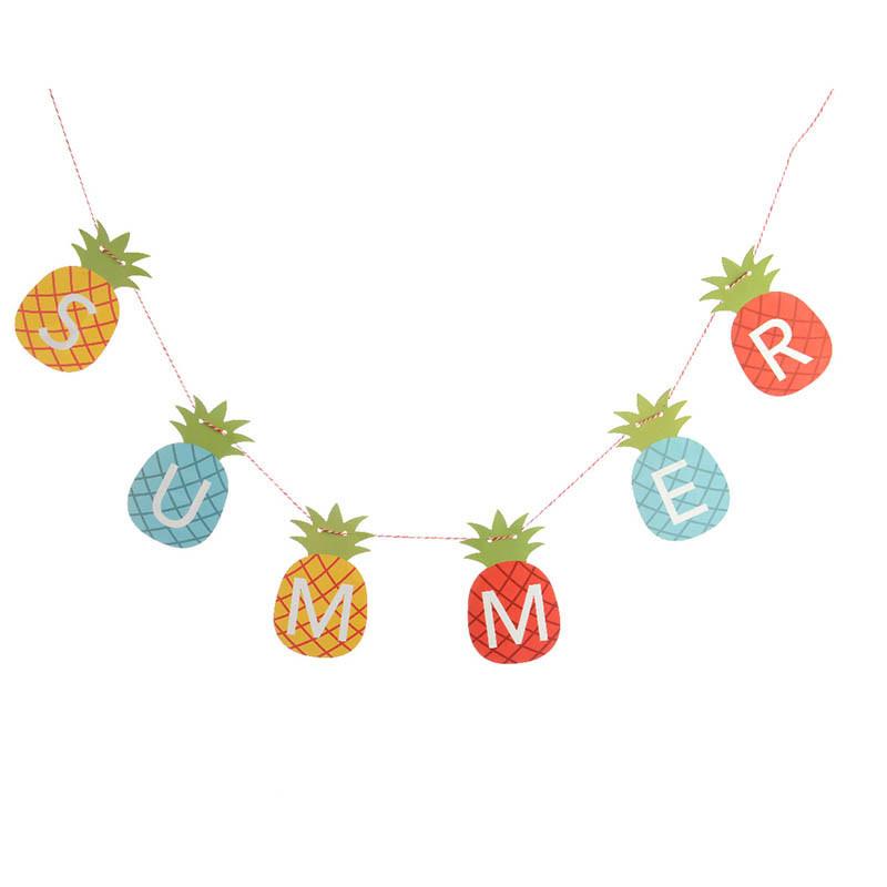 Ananasgirland med texten: S U M M E R