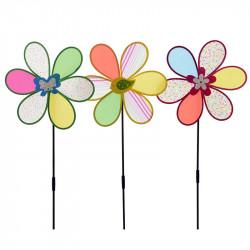 Blomster-vindsnurra med motiv
