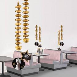 Dekorationsspiraler »Hollywood« dubbelsidiga, 2 st./set