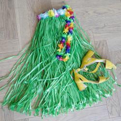 Hawaii-kjol, 80 cm enfärgad blandad med kardborreband