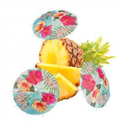 """Drinkparaplyer """"Hawaii"""" i set med 6 st."""