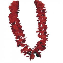 Hawaii-krans, 55 cm Röd