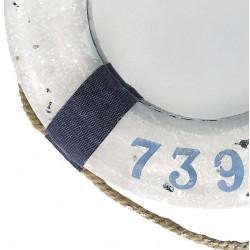 Livboj med spegel, mörkblå, 43 cm