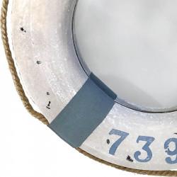 Livboj med spegel, ljusblå, 43 cm