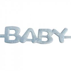 BABY-bokstavsband utstansat, 1,8 m ljusblå