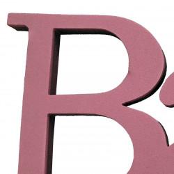 BABY bokstäver sammanhängande, rosa