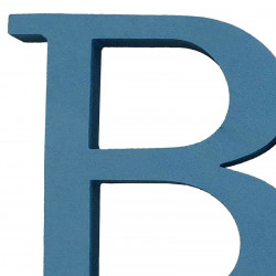 BABY bokstäver sammanhängande, ljusblå