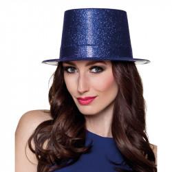 Hög hatt med glitter, Mörkblå