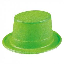 Nyårshatt hög med glitter, Grön