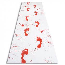 Löpare med blodiga fotspår