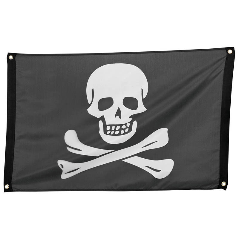 Flagga med döskalle