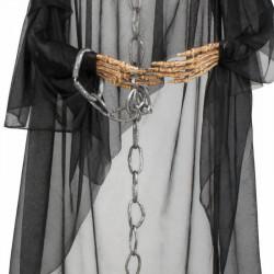 Döskalle-spöke med skeletthänder och kedja