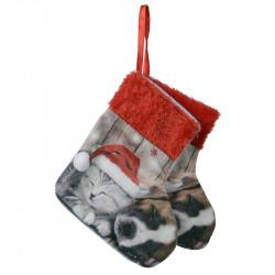 Julstrumpor med motiv av Boxer och kattunge,2 st./förpackni ng