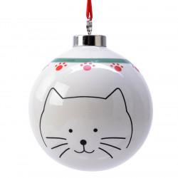 Julkula, 8 cm med katt-motiv