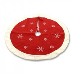 Julgransmatta med snöflinga-mönster