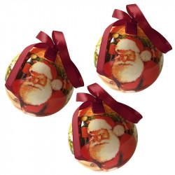 Julgranskulor med tomte, 8 cm, 3-pack
